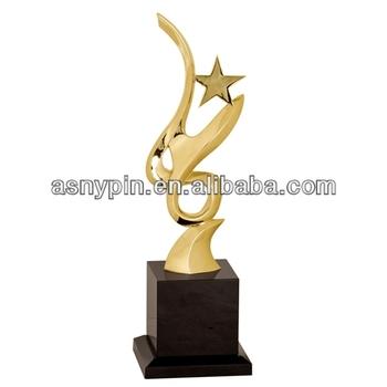 gold metal art star