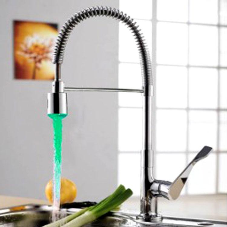 led kitchen faucet www kohler faucets retractable sink swan neck mixer tap buy