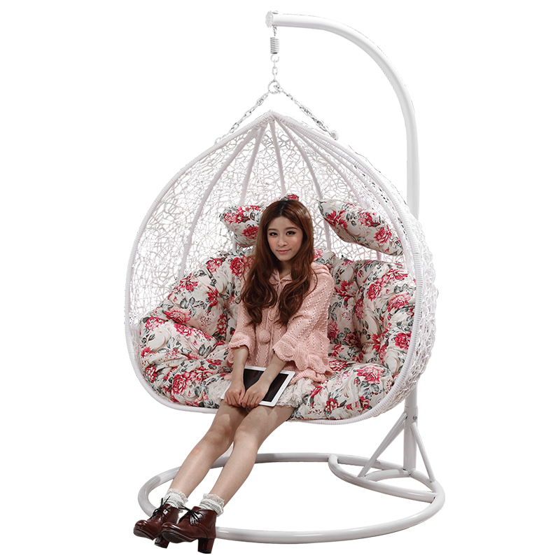 indoor hanging egg chair with stand medi lift two person seat outdoor rattan wicker swing