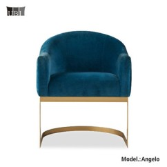 French Velvet Chair Wicker Saucer Modern Furniture Blue Chairs Accent With Stainless Steel Sofa Frame