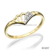 Latest Designs Rhinestone Gold Finger Rings For Women ...
