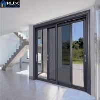 Aluminum Balcony Sliding Doors With Screen Door,Sliding