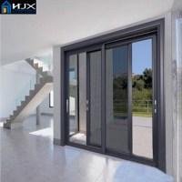 Aluminum Balcony Sliding Doors With Screen Door,Sliding
