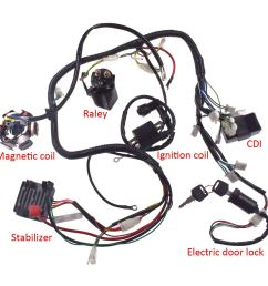 get quotations jrl wiring harness wire loom stator electrics for gy6 150cc 125cc buggy scooter [ 1300 x 1300 Pixel ]