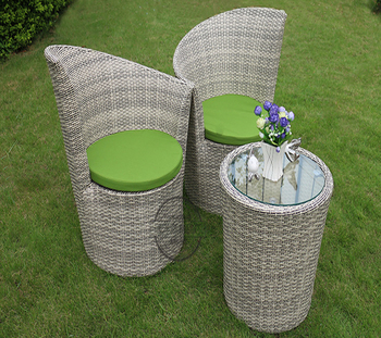 2 chairs and table rattan fisher price chair pink garden general used outdoor furniture round with buy malaysia