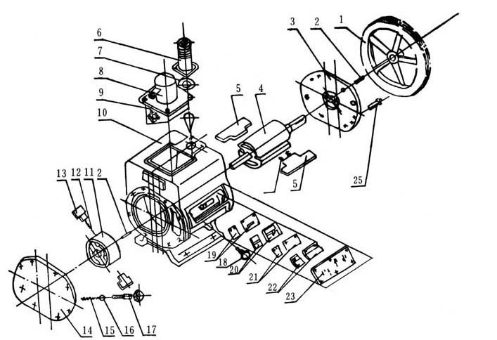 V-belt Electric Motor Driven Rotary Vane High Vacuum Air