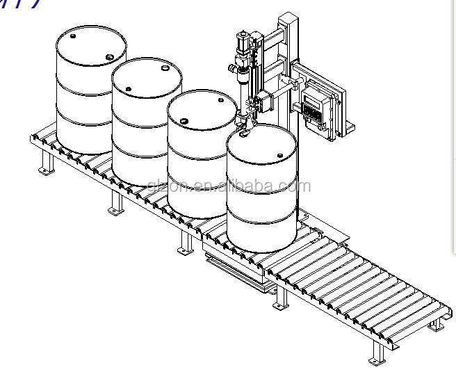 GZM-200L PU liquid Semi automatic drum filling machine