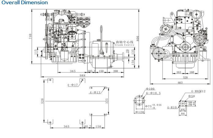 High Speed Marine Diesel Engine For Lifeboat With Gearbox