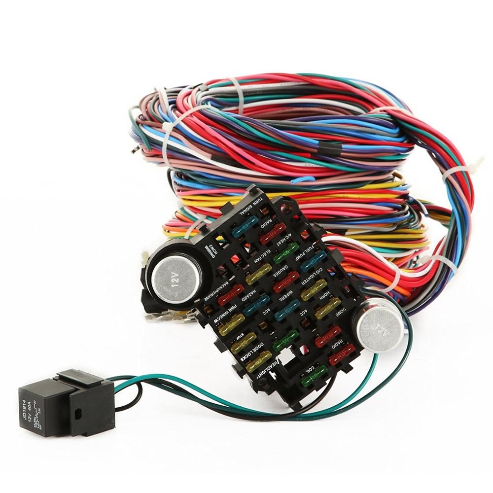 hight resolution of 21 circuit fuse box complete wire harness long labelled printed wires wiring kits