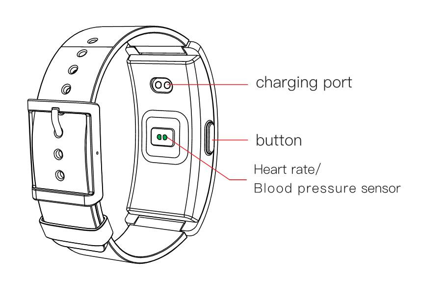 Blood Pressure Measure Heart Rate Testing Bluetooth Smart