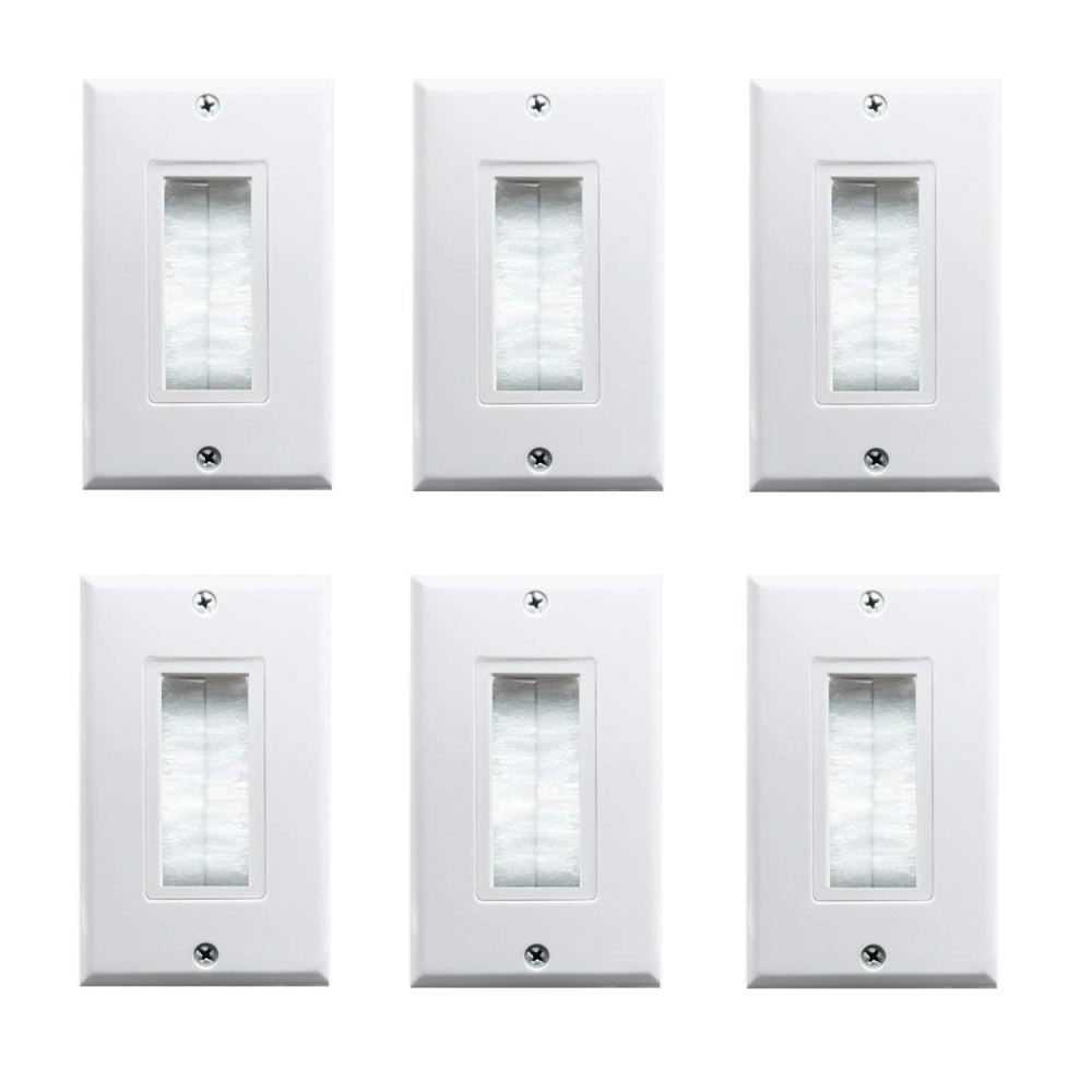 medium resolution of brush wall plate fly tiger single gang cable entry access strap cable pass