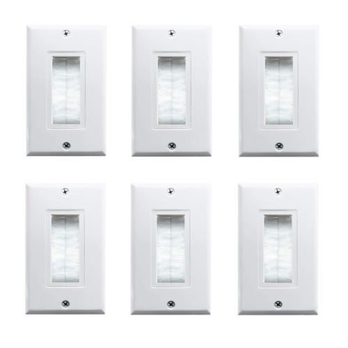 small resolution of brush wall plate fly tiger single gang cable entry access strap cable pass