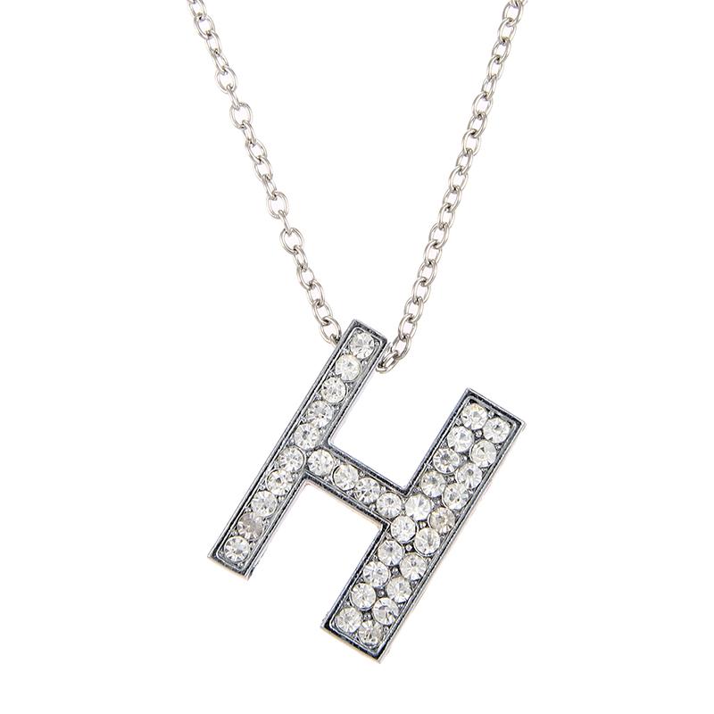 2018 New Design Hip Hop Letter Crystal Pendant Silver
