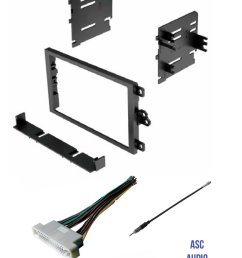 get quotations asc audio car stereo radio dash kit wire harness and antenna adapter to install [ 1200 x 1576 Pixel ]