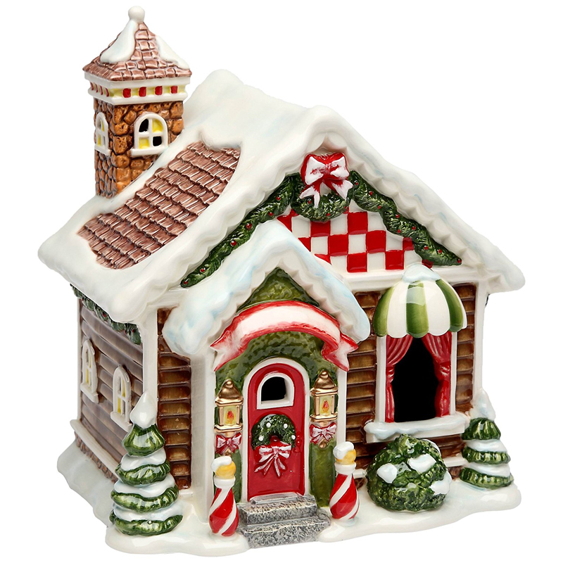 unpainted christmas village houses