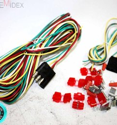 get quotations skemidex 25ft 4 way trailer wiring connection kit flat wire extension harness 4 [ 1500 x 1246 Pixel ]