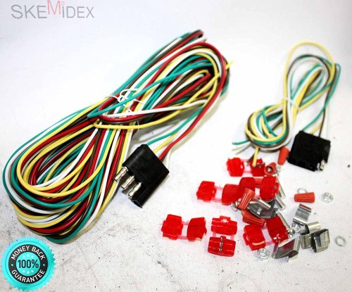 small resolution of get quotations skemidex 25ft 4 way trailer wiring connection kit flat wire extension harness 4