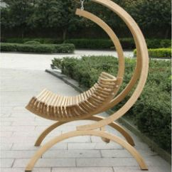 Hanging Chair Wood Plastic Wooden Swing Lounge Outdoor
