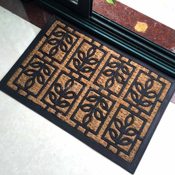 Rubber Cal Outdoor Door Mat Coco Fiber And Rubber