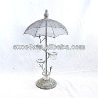 Vintage Garden French Umbrella Tree Votive Candle Holder ...