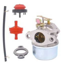 get quotations atoparts carburetor with gasket primer bulb fuel filter fuel line for tecumseh 3hp 2 cycle snow [ 1100 x 1100 Pixel ]