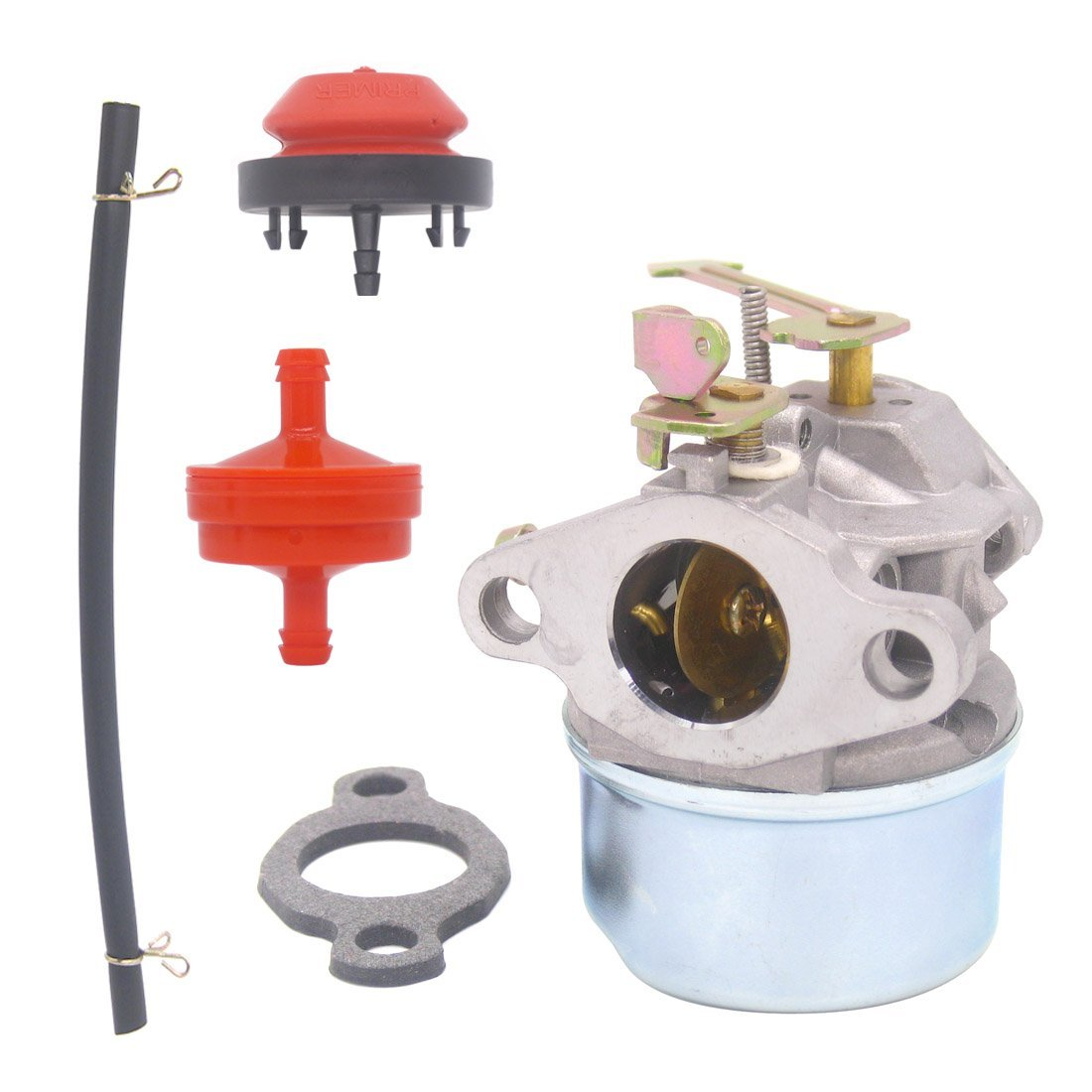 hight resolution of get quotations atoparts carburetor with gasket primer bulb fuel filter fuel line for tecumseh 3hp 2 cycle snow
