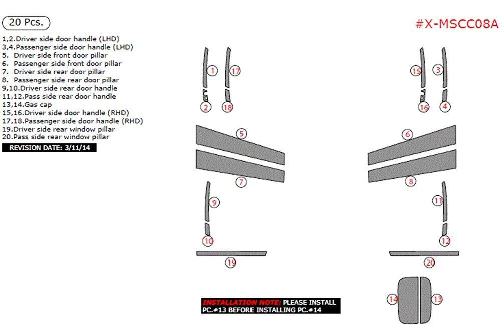 Buy Exterior Overlay ITEM# X-MSCC08A-SYELLOW Mercedes C