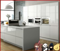 White Lacquer High Gloss Finish Kitchen Cabinet 2 Doors ...