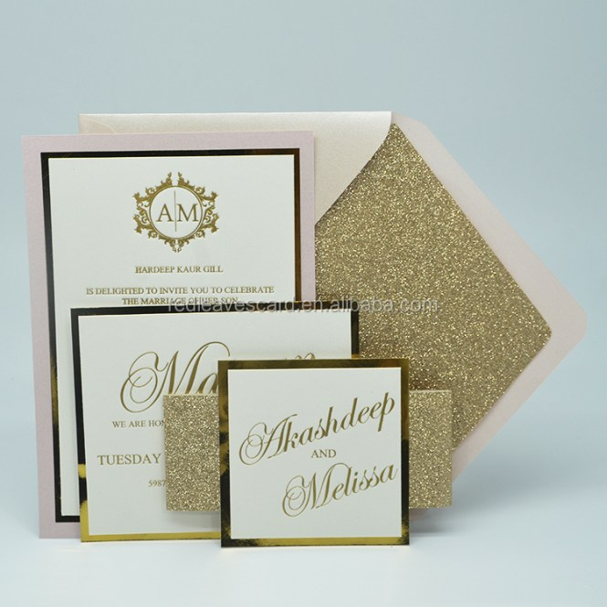 Memory Card Wedding Invitation Greeting Paper Envelope Printing Cards New Year Luxury