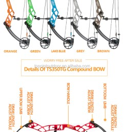 target compound bow ts350tg archery bow topoint brand lh and rh cnc milling riser [ 750 x 1525 Pixel ]