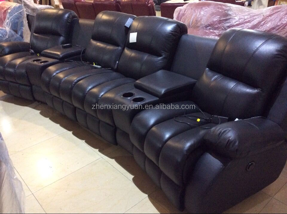2016 Home Cinema Power Recliner Luxury Movie Chair Leather