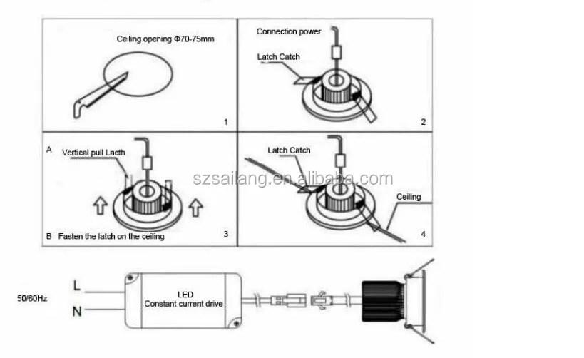 recessed lighting parts diagram wiring for split ac unit 12 inch light buy ul downlight