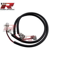 get quotations razer auto black 1 pair 24 fog light extension cable wire harness with corrugated wire [ 2560 x 2560 Pixel ]
