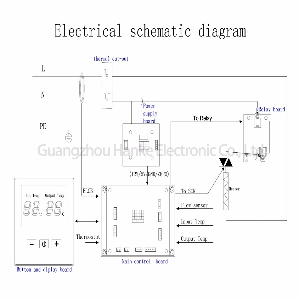 hight resolution of one phase two scr oem odm instantaneous tankless water heater electric controller board