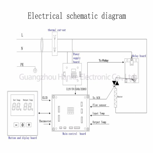 small resolution of one phase two scr oem odm instantaneous tankless water heater electric controller board