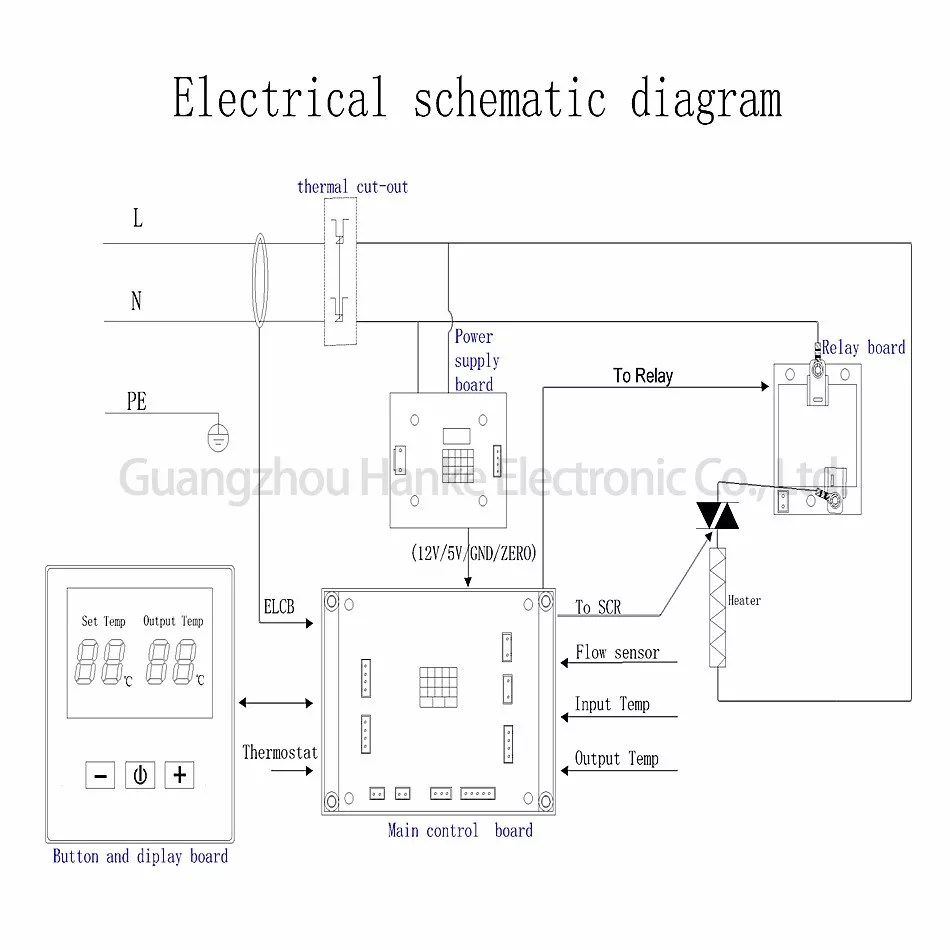 medium resolution of one phase two scr tankless electric hot water heater circuit board