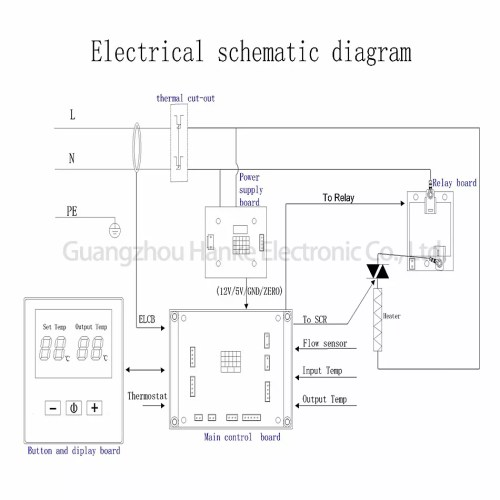 small resolution of one phase two scr tankless electric hot water heater circuit board