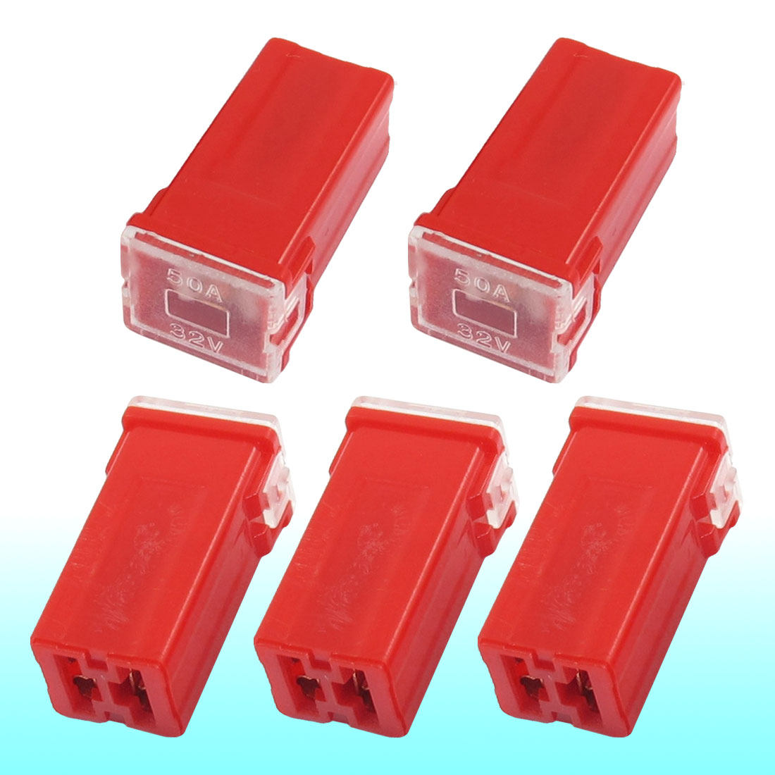hight resolution of get quotations auto car straight female terminals link pal fuse 50 amp red 5 pcs