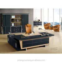 Leather Pvc Upholstery Boss Modern Director Office Table ...