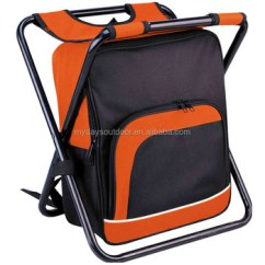 Fishing Cooler Chair Maison Gatti French Bistro Foldable Backpack With Bag Portable Camping Stool For Beach