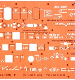 sanitary piping water installation schematic diagram symbols drawing drafting template stencil [ 1500 x 673 Pixel ]