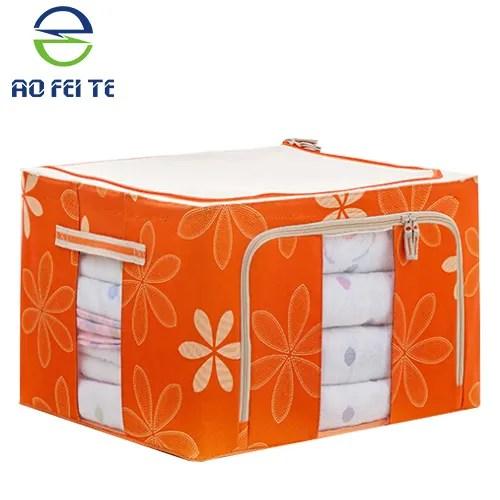 boite de rangement pliable en tissu boite de rangement pour le literie les vetements grande fenetre visuelle de grande capacite buy boite de