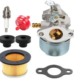harbot 632230 632272 carburetor 30727 air filter tune up kit for tecumseh 5hp 6hp h30 [ 1000 x 1000 Pixel ]