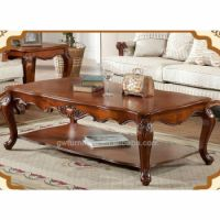 Hand Carved Classic Solid Wood Living Room Center Table ...