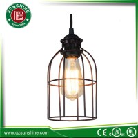 Antique Industrial Style Edison Bulb Cage Pendant Lamp ...