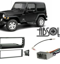 get quotations radio stereo install dash kit wire harness antenna adapter for jeep grand cherokee  [ 2560 x 1978 Pixel ]