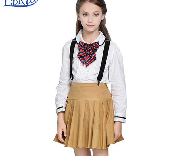 Korean Sexy School Girls Uniform Design Skirt And Blouse Pictures