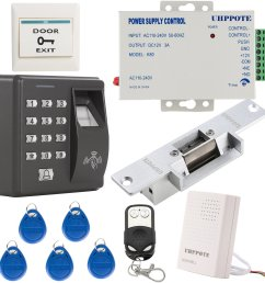 get quotations uhppote fingerprint rfid em id card access control system kit with no strike lock  [ 1600 x 1600 Pixel ]
