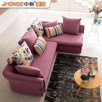 purple living room furniture sofas with dining table designs fair price l shaped corner colour fabric sectional sofa set