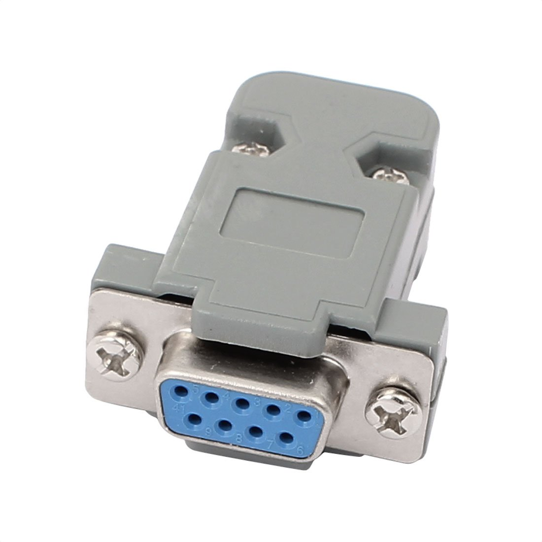 hight resolution of get quotations uxcell db9 9 pins 2 rows female converter connector adapter w plastic housing assembly shell